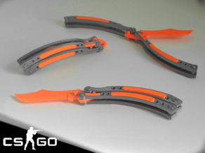 CS:GO Butterfly Knife (No Screws Needed)