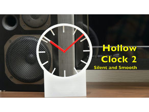Hollow clock 2 - silent and smooth