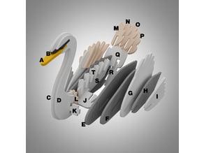 Mute swan 3D puzzle