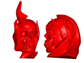 Flaming Skull Refrigerator / Whiteboard Magnets