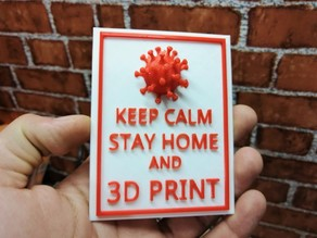 STAY HOME AND 3D PRINT