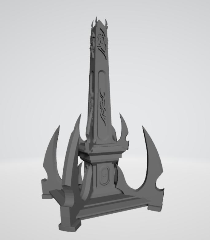 Dark Elf Monolith Scenery for Warhammer