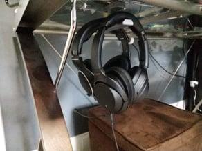 Under Desk Dual Headphone Holder Mount