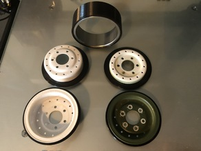 Tire & Wheel Adapter for Cross RC HC4 & HC6
