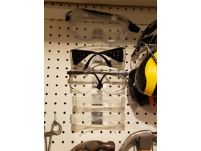 Pegboard Safety Glasses Holders - Various Sizes