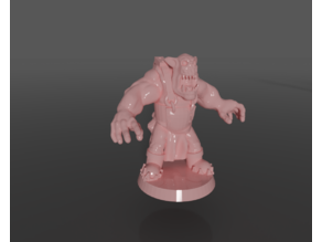Ork rig with poses and parts in blend file
