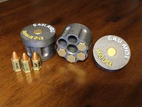Bullet Dice Container for Gaslands (plain cap included)
