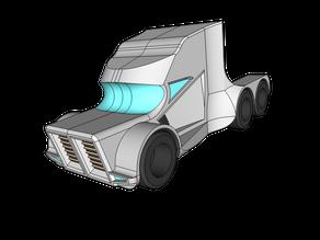 Cyberpunk Semi Truck Prototype