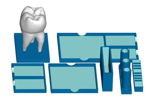 Tooth Postit Note, Pen, USB Holder (Modular Office Desk Organizer)