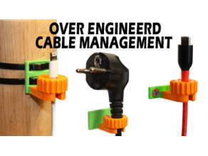 Cable Management Clips/Guides (Modular With Lock)