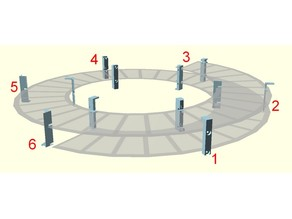 Model train ramp poles (helicoidal, curved or straight)