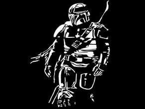 The Mandalorian stencil