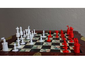 Barlycorn Chess Set Inspired by John Quincy Adams' ca.1825 Chess Set