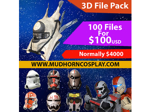 Star Wars 3d File Pack - Over 100 Weapons, Helmets and Armor Files.