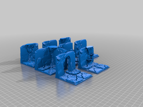 natural grotto dungeon tiles - modular dungeon - scaled to 30mm tiles