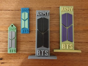 BTS Army two colour keyring and ornament