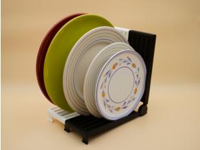 Modular plate rack