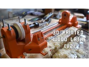 3D printed wood lathe v2