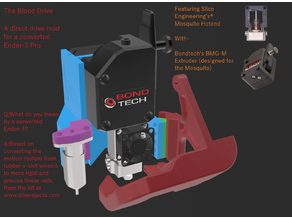Blood Drive - BLVProjects Ender 3 Conversion Mod - Direct Drive - For Mosquito Hotend w/ BMG-M Extruder