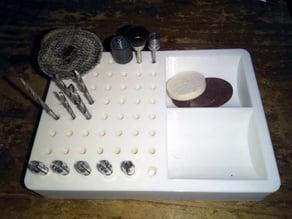 Dremel tool holder for the workbench