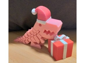 Flexi Rex- Clip on Holiday Hat - present box