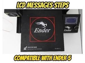 Ender 3/5 Bed leveling G-CODE + test print + LCD STEPS UPDATE 28/11/19