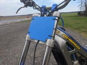 Trials Bike Number Plate - Modern Paioli Forks