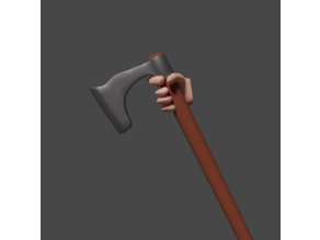 Simple medieval / viking axes & spear with hand scaled for 28mm tabletop