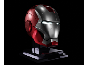 Iron man mk5 helmet mark 5 silver red
