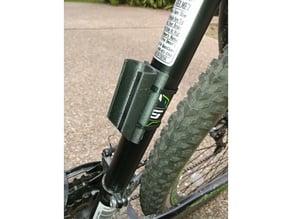 Bike pump mount, customizable, zip-tieable