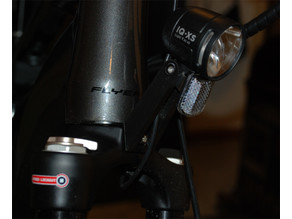 Holding arm for bicycle front light