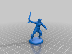 Blackstar - John Blackstar - Miniature - Barbarian