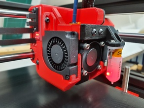 Hypercube Evolution Compact Dual 4010 Duct 2 with X Endstop