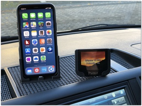 VW T5 Dashboard iPhone 11 Pro holder with charger and parking card slot