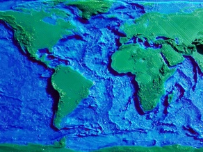 Earth Topology + Bathymetry