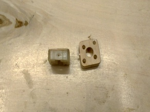 Temperature resistant motor mount for P-38 from 3dLabPrint