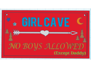 Girl Cave Room Sign