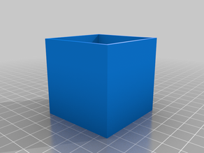 Box-style shelf, 5x5x5 cm