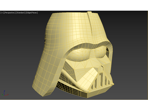 Vader pencil cup high poly