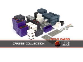 Star Wars crates and boxes 1:12 scale