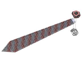 Striped Chainmail Necktie