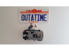 Lego DeLorean Wall Mount