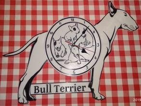 Bullterrier Clock