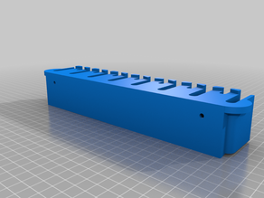 Screwdriver holder for OBI_pegboards (with hole)