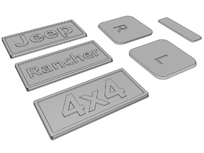 Accessories for 3dsets  rancher