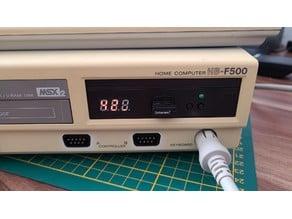 Gap filler for installing Gotek floppy emulator into Sony MSX2 computers