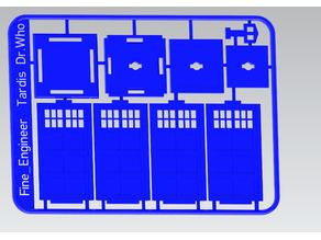 Tardis Police Box kit card Dr Who Updated