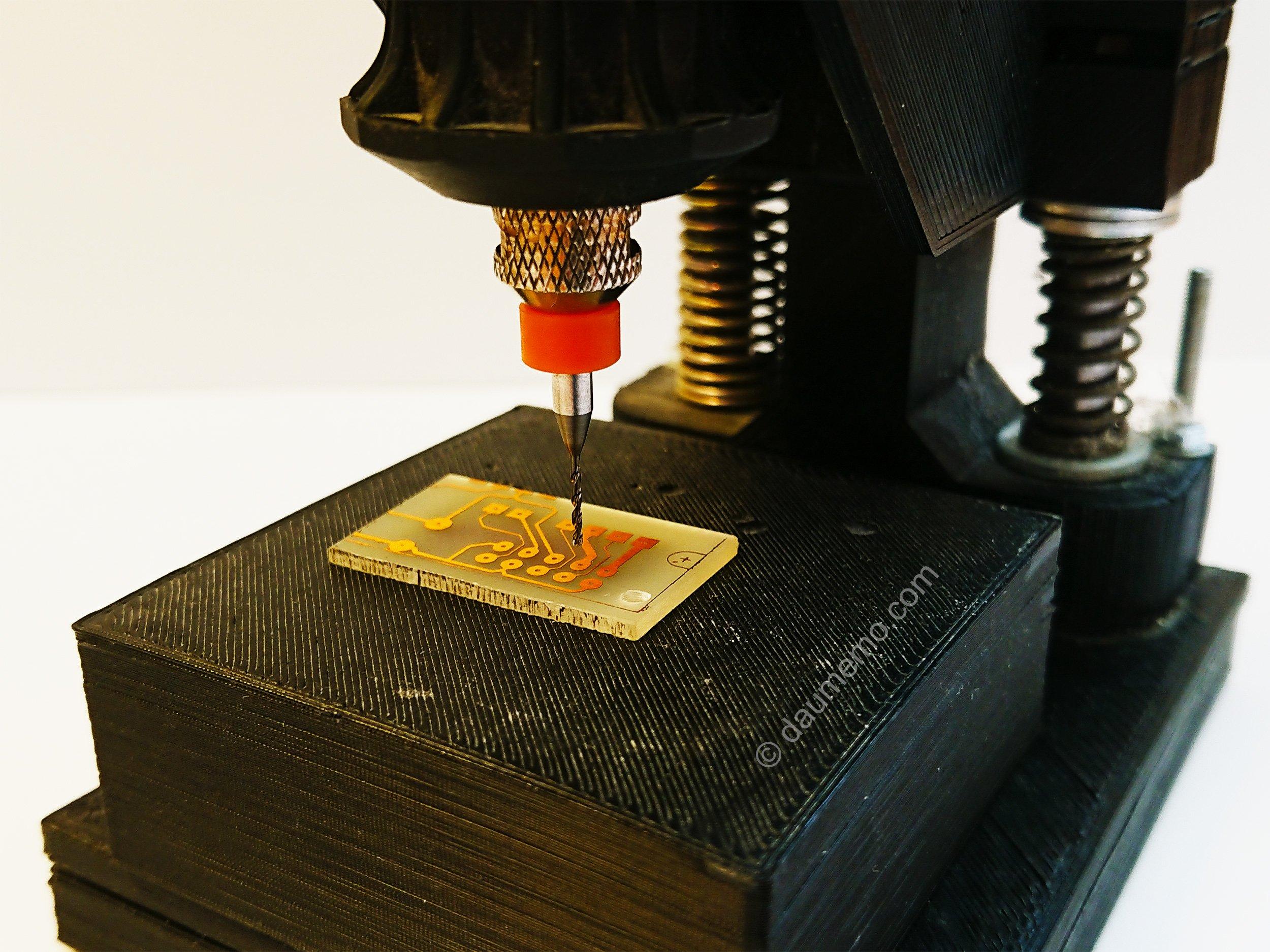 DIY drill press for a rotary tool (Dremel or similar)