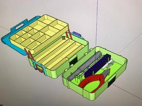 Sort-Tool Box w/ lock and release function
