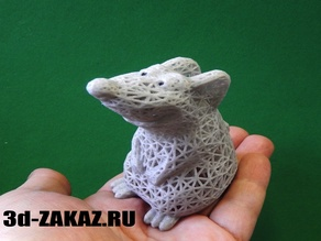 Baby rat design Voronoi, remix